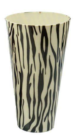 Copo/Pote Expositor Estampado Zebra 750ml - 01 Unidade