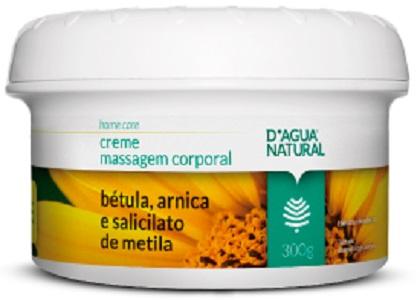 Creme de Massagem Bétula Arnica e Salicilato de Metila 300g Dagua Natural