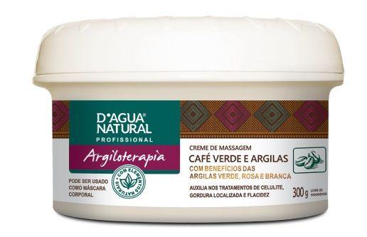 Creme de Massagem Café Verde e Argilas 300g - Dagua Natural