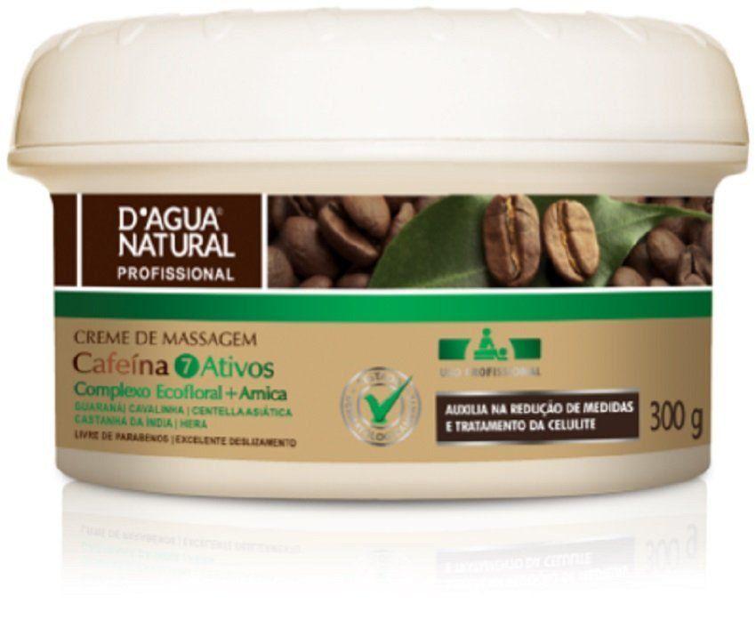Creme De Massagem Cafeína 7 Ativos 300gr - D'agua Natural