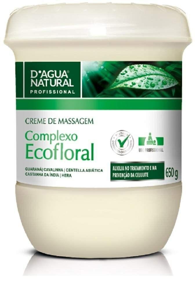 Creme de Massagem Complexo Ecofloral 650G - D'agua Natural