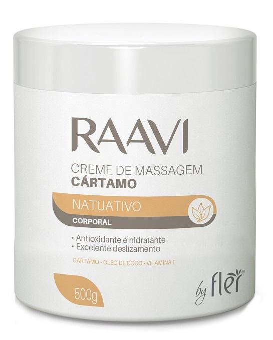 Creme de Massagem Corporal Cártamo 500gr - Raavi