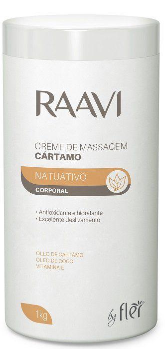 Creme de Massagem Corporal Óleo de Coco e Cártamo 1kg - Raavi