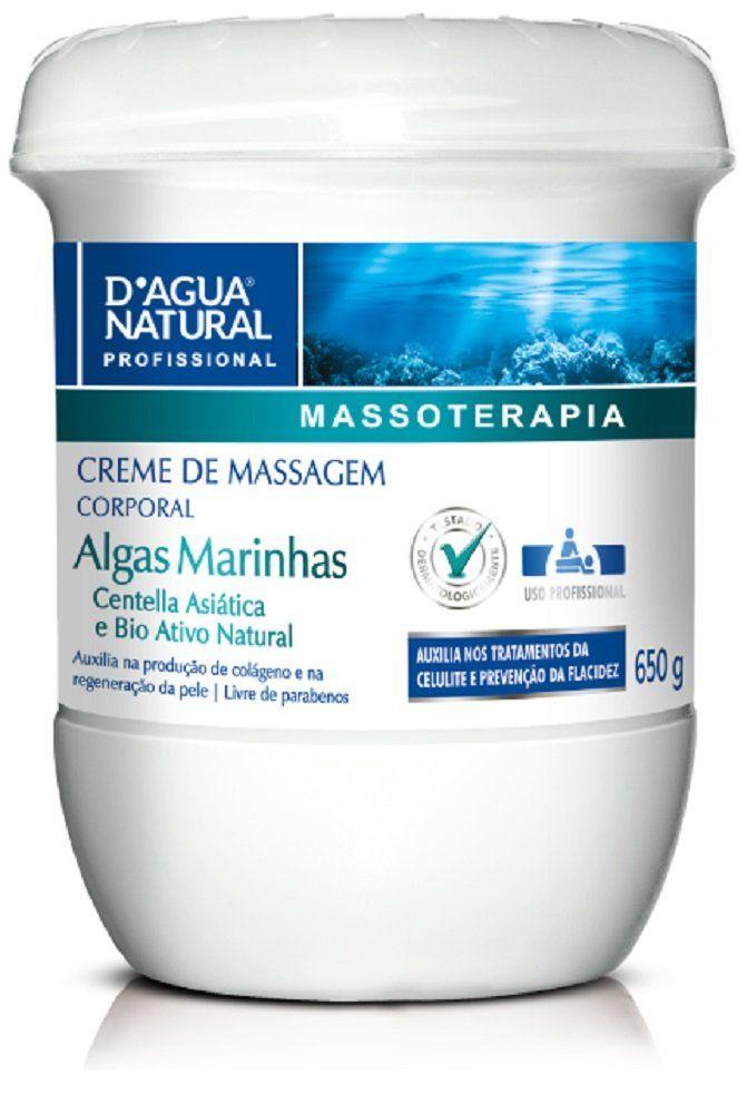 Creme De Massagem Corporal Com Algas 650gr - D'agua Natural