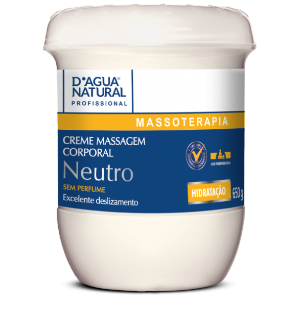 Creme De Massagem Corporal Neutro 650gr - D'agua Natural