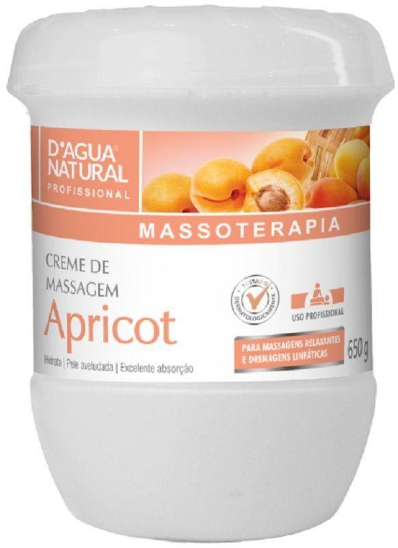 Creme de Massagem Hidratante Apricot 650g - Dágua Natural