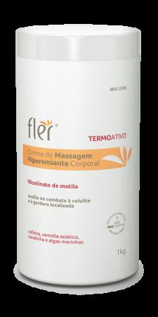 Creme de Massagem Hiperemiante Corporal 1kg - Fler