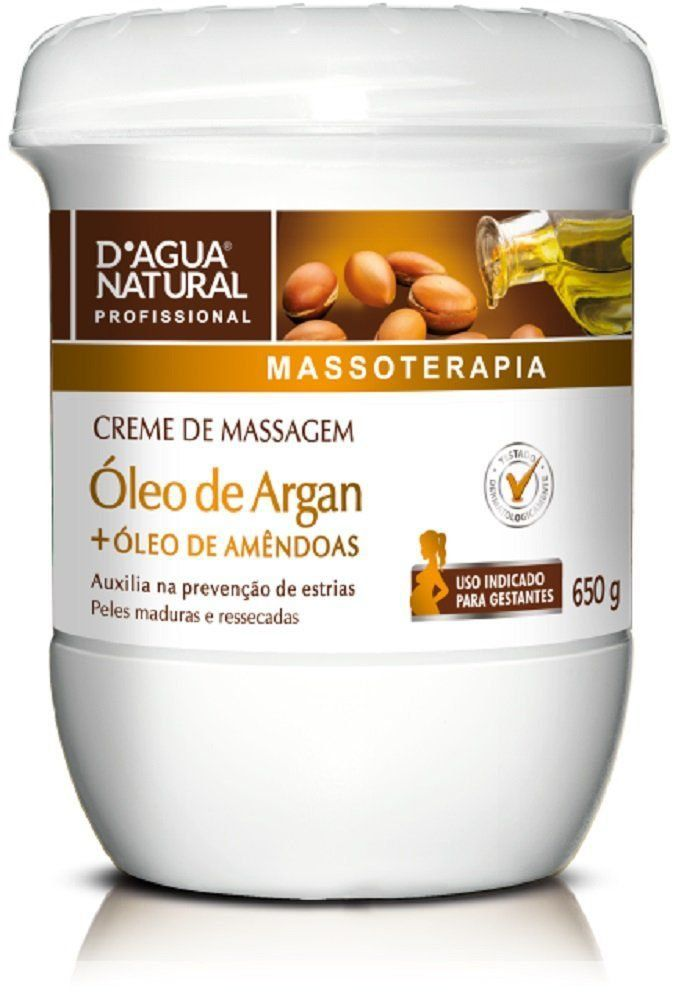 Creme De Massagem Óleo De Argan para Gestantes - 650g D´Água Natural