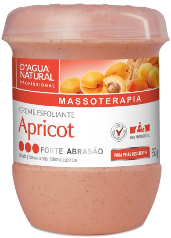 Creme Desodorante Esfoliante Apricot Forte 650gr - Dágua Natural