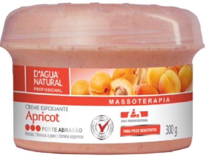 Creme Esfoliante Apricot Forte Abrasão - 300g D´agua Natural