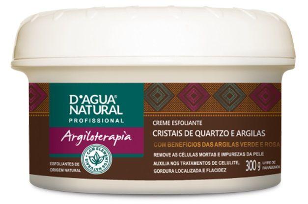 CREME ESFOLIANTE CRISTAIS DE QUARTZO E ARGILAS 300g - D'água Natural