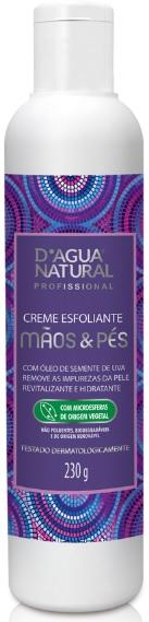 Creme Esfoliante Mãos e Pés Com Óleo de Semente de Uva 230g- Dágua Natural