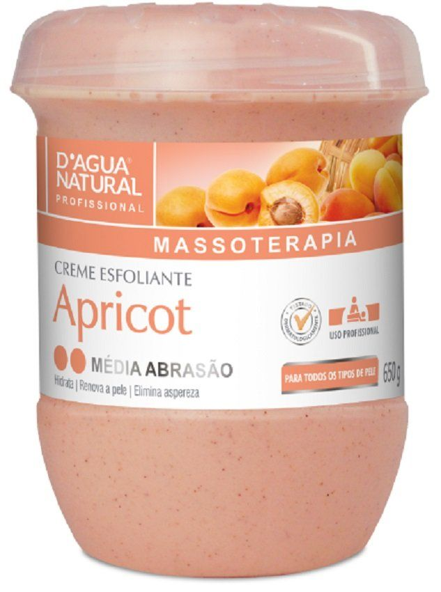 Creme Esfoliante Média Abrasão Apricot 650g - Dágua Natural