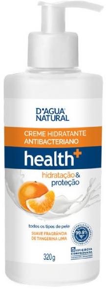 Creme Hidratante Antibacteriano health+ hidratação & proteção 320g- Dágua Natural