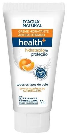 Creme Hidratante Antibacteriano health+ hidratação & proteção 50g- Dágua Natural