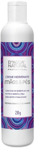 Creme Hidratante Mãos e Pés Com Óleo de Semente de Uva 230g- Dágua Natural