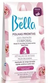 Depil Bella Pétalas de Rosas Folhas Depilatórias Prontas Corporal com 16 unidades