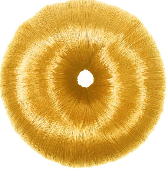 Donuts Luxo Loiro Para Penteados De Cabelos Revestido Com Fios De Nylon