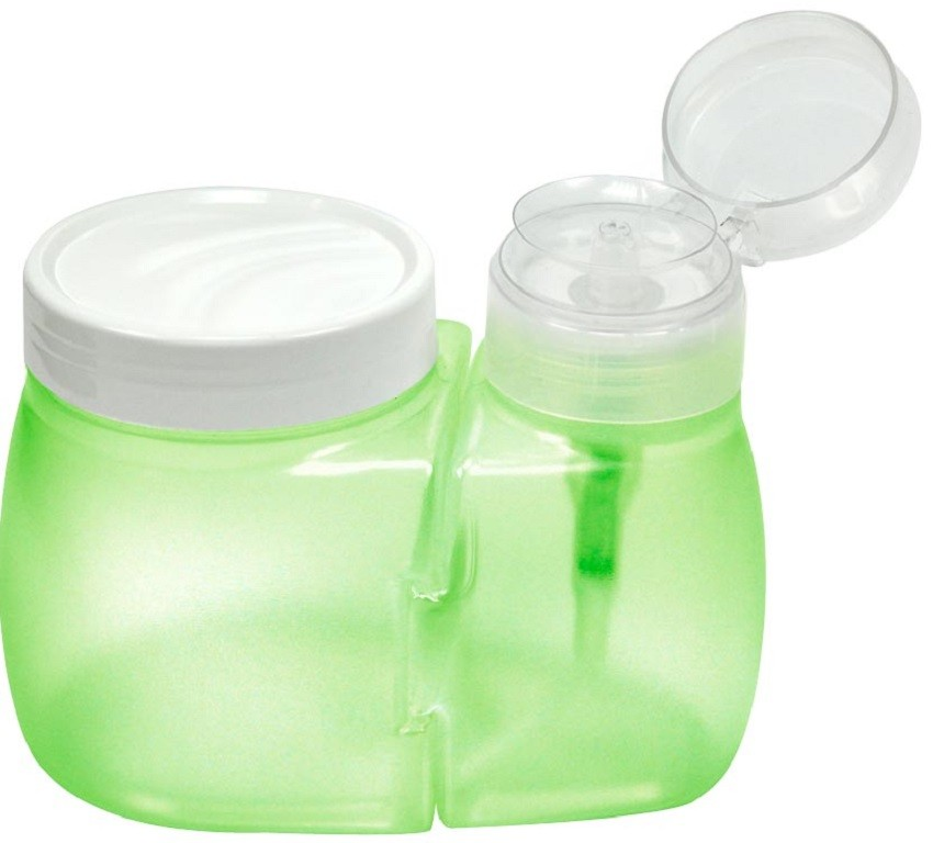 Dosador de Acetona com Porta Algodão Verde Limão - Santa Clara