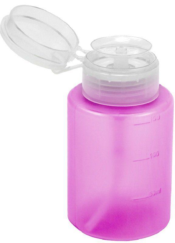 Dosador Porta Acetona Plástico Simples Rosa 150ml - Santa Clara