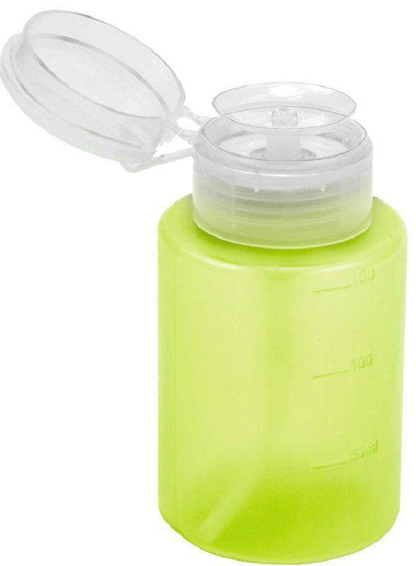 Dosador Porta Acetona Plástico Simples Verde Limão 150ml - Santa Clara