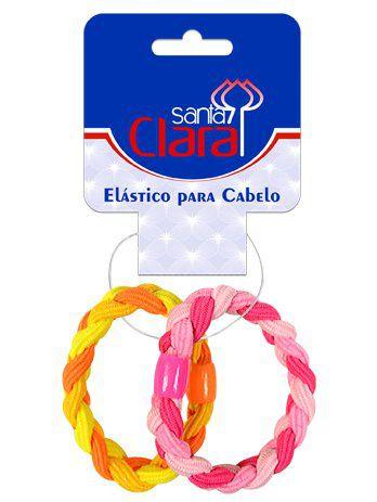 Elástico Para Cabelos Coloridos Modelo Trançado 2 Unidades - Santa Clara