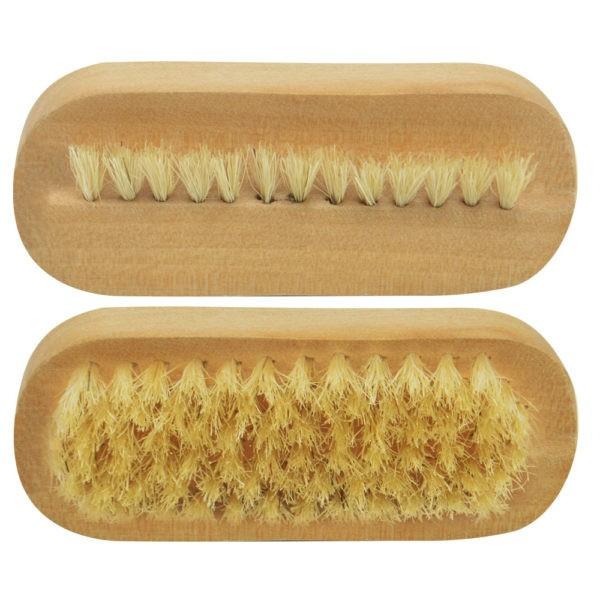Escova de Madeira Oval com Pelo Natural Para Barbeiro - Santa Clara