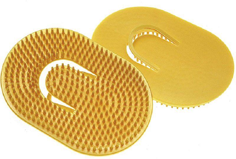 Escova Plástica Oval Pequena Para Massagem Com 12 Unidades