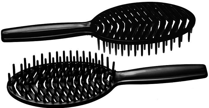 Escova Preta Plástica para Cabelo Mafê - 01 Unidade