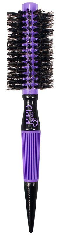 Escova de Cabelo Profissional 18mm com Cerdas Mistas e Dupla Altura - Santa Clara