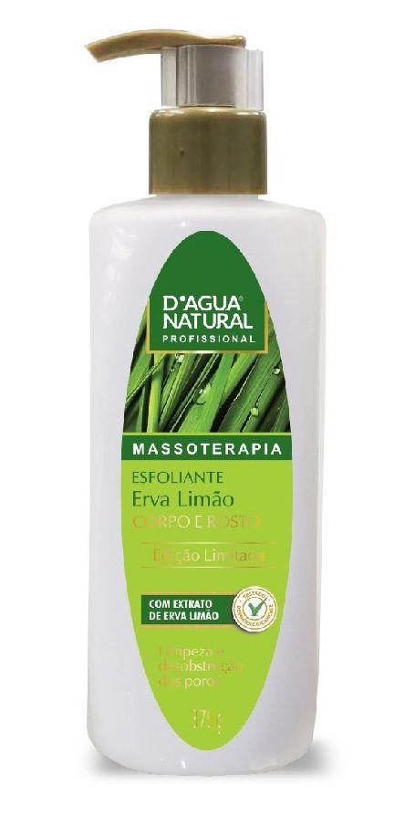Esfoliante Erva Limão Corpo e Rosto 375g - D'agua Natural