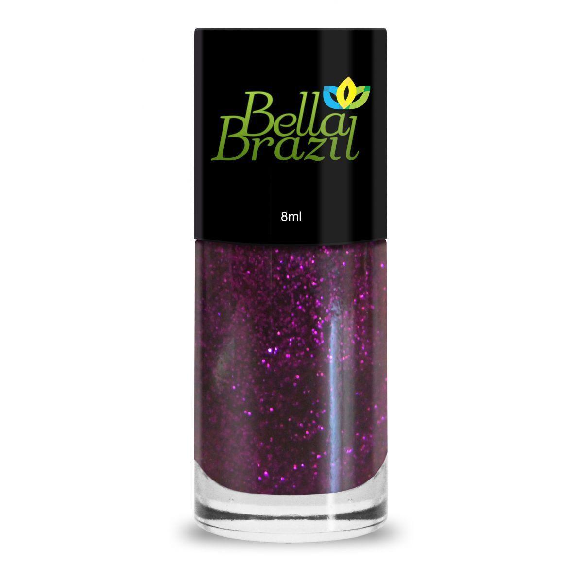 Esmalte Com Glitter Sabiá  Bella Brazil - 8ml