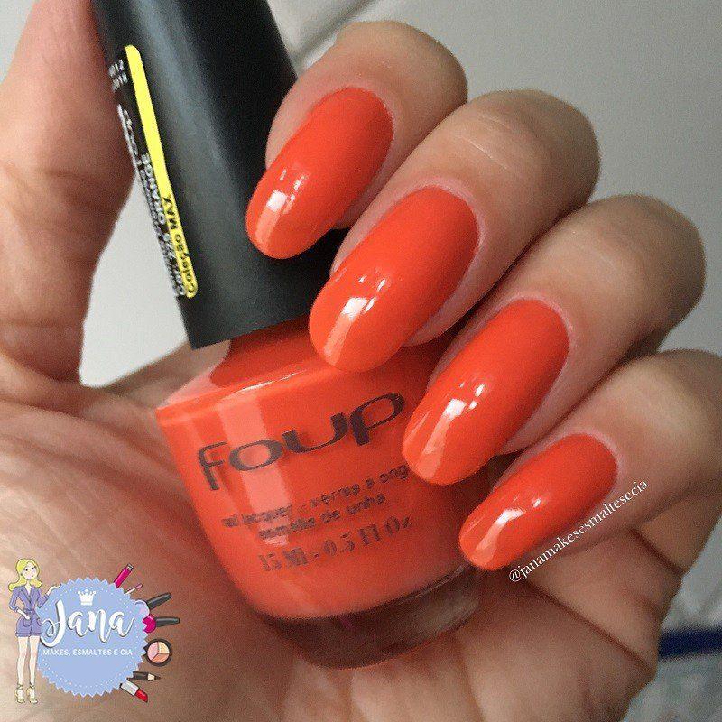 Esmalte Cremoso Orange da Marca Foup - 15ml