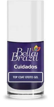 Esmalte Finalizador Top Coat Efeito Gel  9ml - Linha Cuidados Bella Brazil