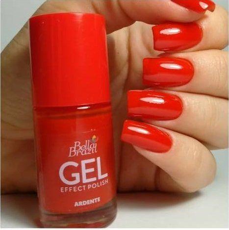Esmalte Gel Effect Polish - Vermelho Ardente Bella Brazil 8ml