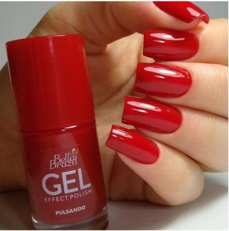 Esmalte Gel Effect Polish - Vermelho Pulsando Bella Brazil 8ml