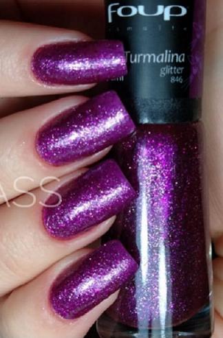Esmalte Glitter Turmalina - Foup 8ml