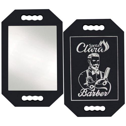 Espelho De Mão Com Impressão Barber Em E.V.A - Santa Clara
