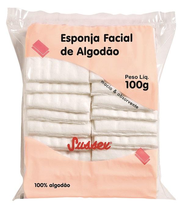 Esponja Facial de Algodão Hidrófilo Sussex - 100g
