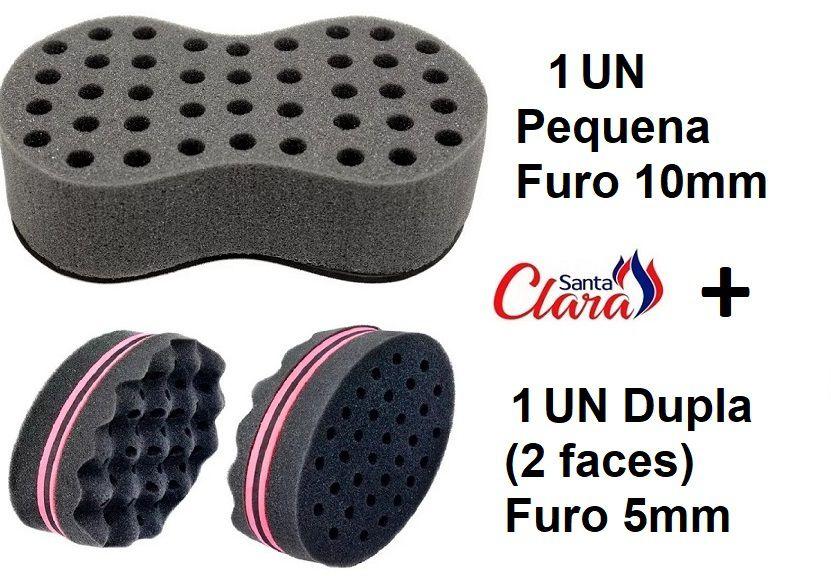 Esponja Twist 01 Pequena + 01 Dupla Afro Nudred Cabelo - Santa Clara