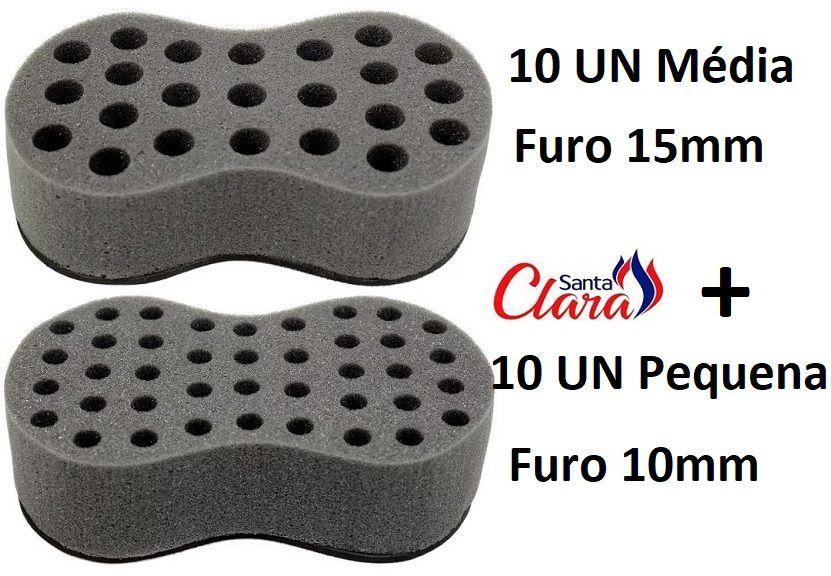 Esponja Twist 10 Média + 10 Pequena Afro Nudred Cabelo - Santa Clara