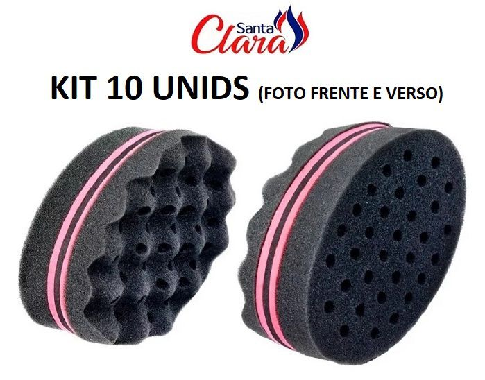 Esponja Twist Dupla Afro Nudred - Kit com 10 unidades Santa Clara