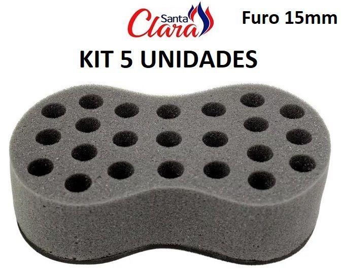 Esponja Twist Infinity Média Afro Nudred Kit com 05 Unids - Santa Clara