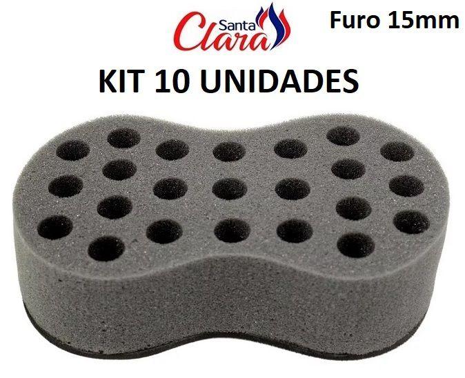 Esponja Twist Infinity Média Afro Nudred Kit com 10 Unids - Santa Clara