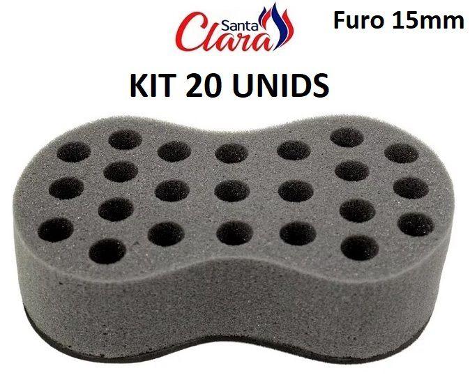 Esponja Twist Infinity Média Afro Nudred Kit com 20 Unids - Santa Clara