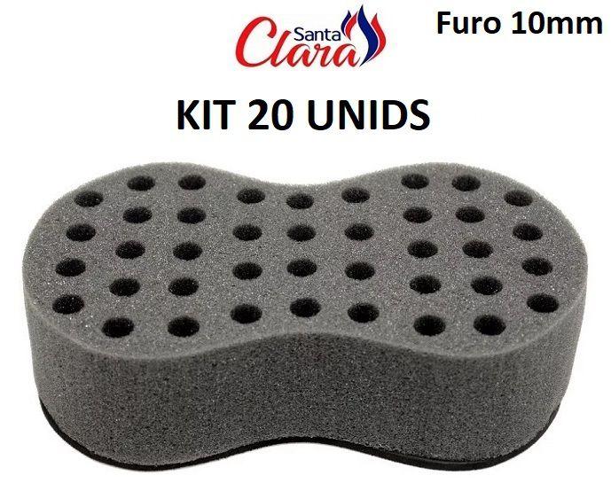 Esponja Twist Infinity Pequena Afro Nudred Kit com 20 Unids - Santa Clara
