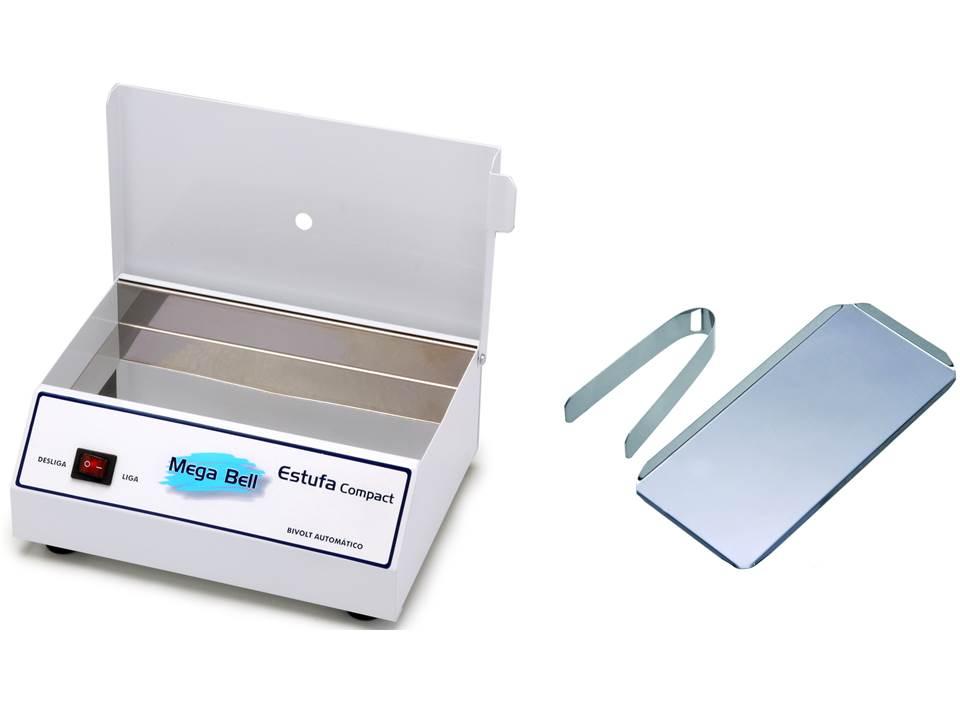 Forninho Esterilizador de Alicates para Manicure Estufa + Bandeja + Pinça