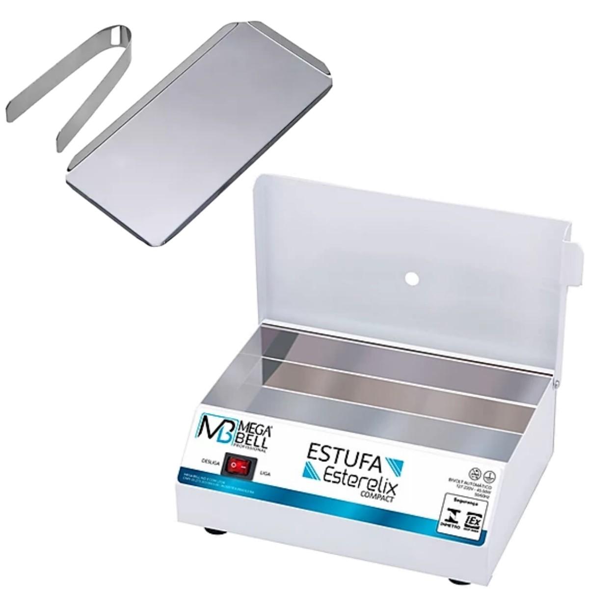 Estufa Esterilizadora para Manicure Esterilizador de Alicates + Bandeja + Pinça