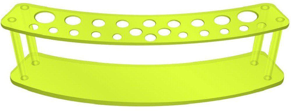 Expositor Acrílico 5mm Verde Limão com 22 Cavidades Para Pincéis - Santa Clara