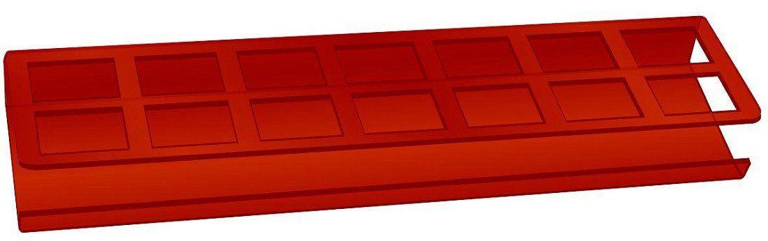 Expositor de Esmaltes Vermelho com 14 cavidades - Santa Clara